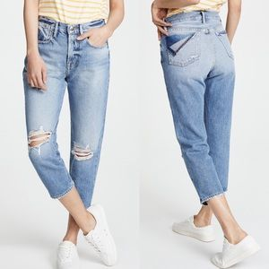 NWT FRAME Le Stevie Crop Distressed Jeans Size 28